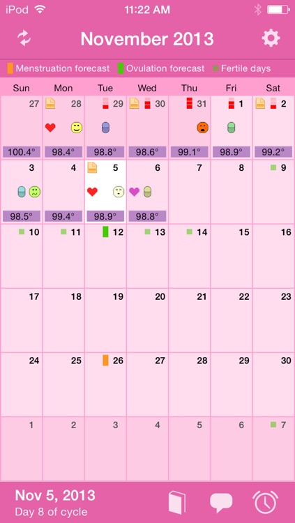 Menstrual Calendar screenshot-0