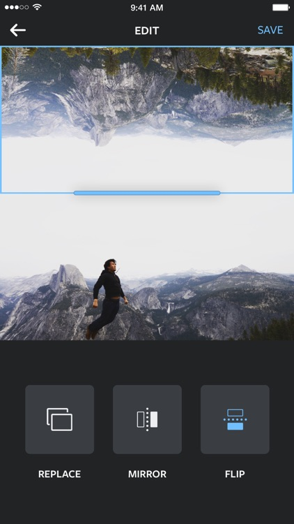 Layout from Instagram app image