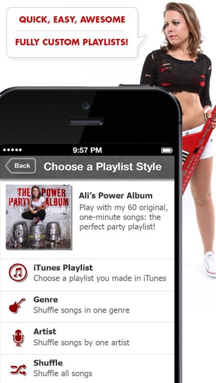 Ali's Power Album: Hour Party Playlist Maker