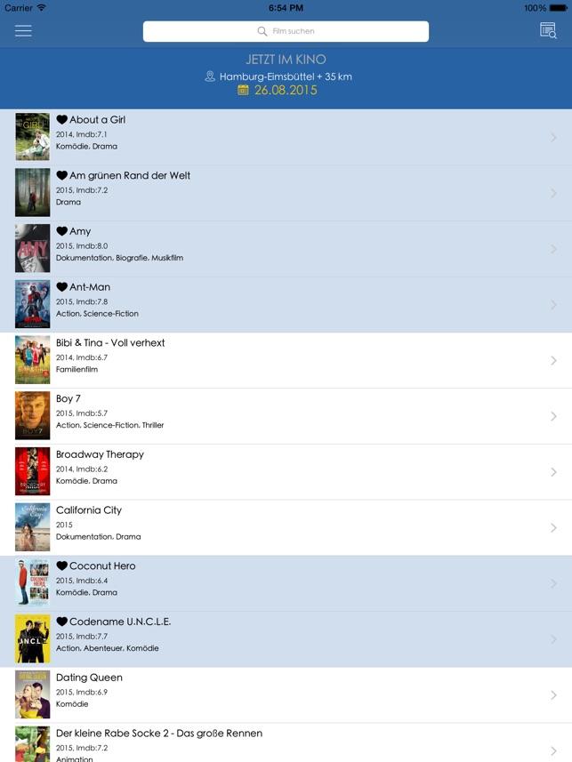 AbInsKino Kinoprogramm für Deutschland, Österreich und die
