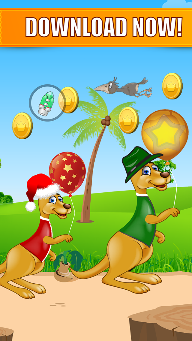 Happy Kangaroo Jump Free - Bounce on Poles and Collect