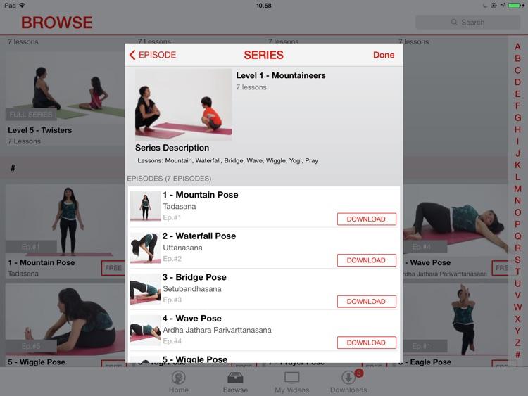 49poses - Children's Yoga Video Lessons for iPad screenshot-3
