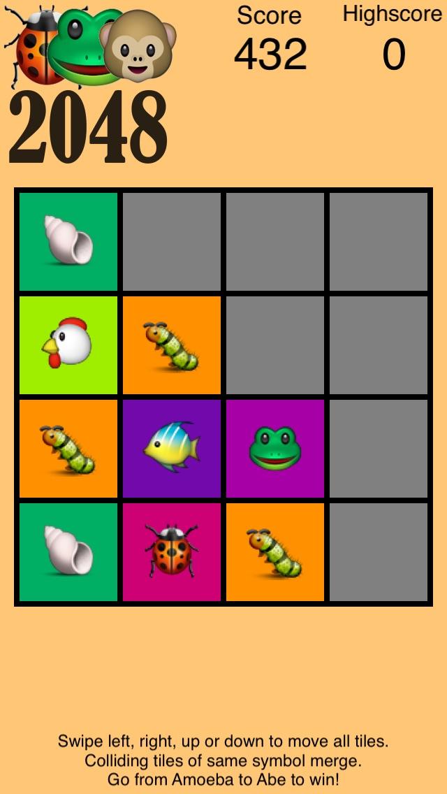 2048 Emoji Evolution - from Amoeba to Abe-0
