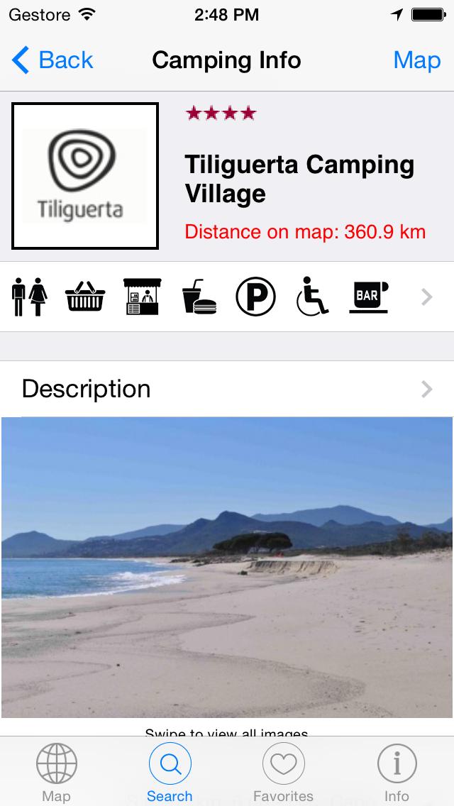 Camping Guide Italy & Europe 2014 i3F screenshot four