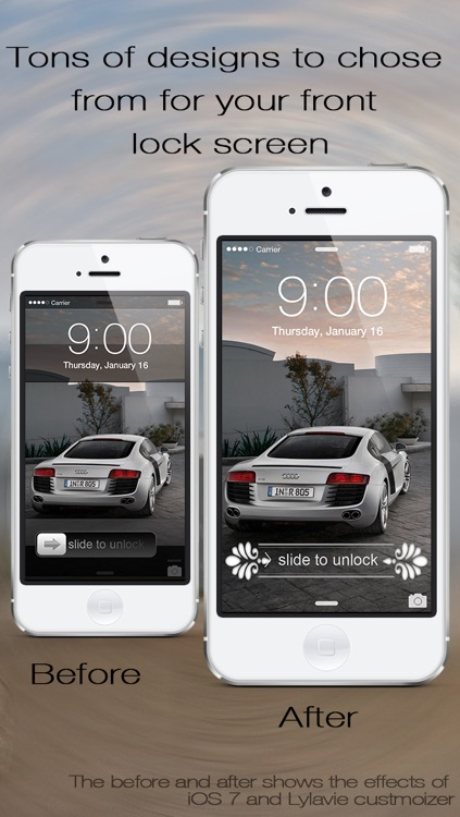 Lock Screen Slider Overlay Wallpapers Pro - Custom Slide to Unlock Background Overlay Themes for iOS 7 Home Screen