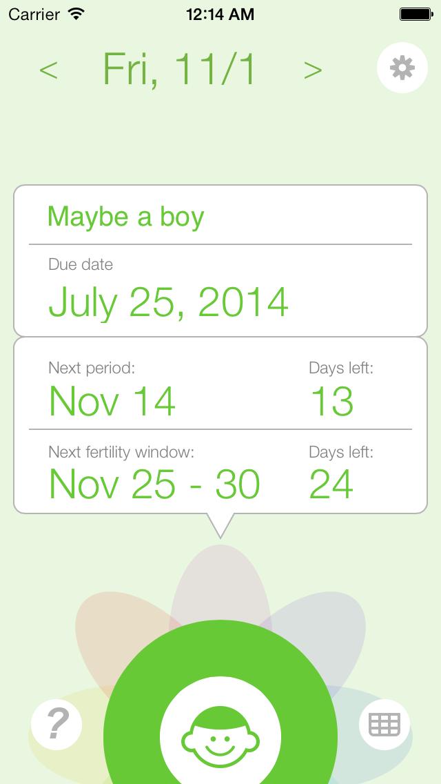 Ovulation and Pregnancy Calendar (Fertility Calculator, Gender Predictor, Period Tracker)Screenshot of 2