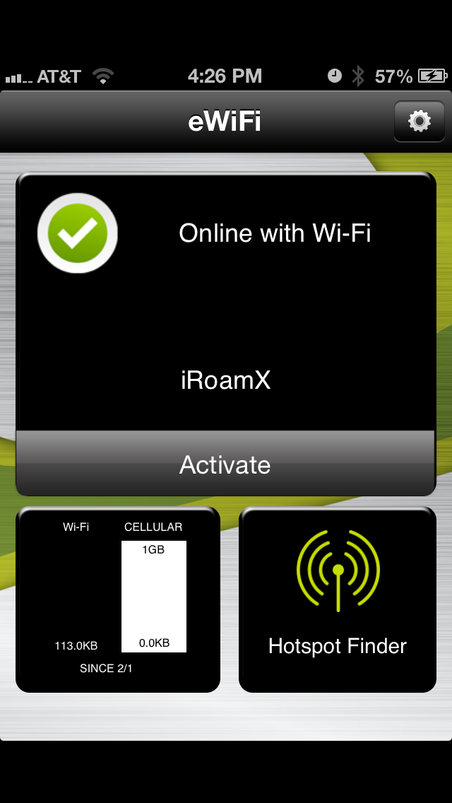 Etisalat eWifi screenshot two