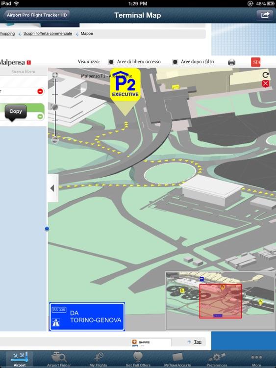 Milano Malpensa Airport Pro (MXP) + Tracker HD screenshot-4