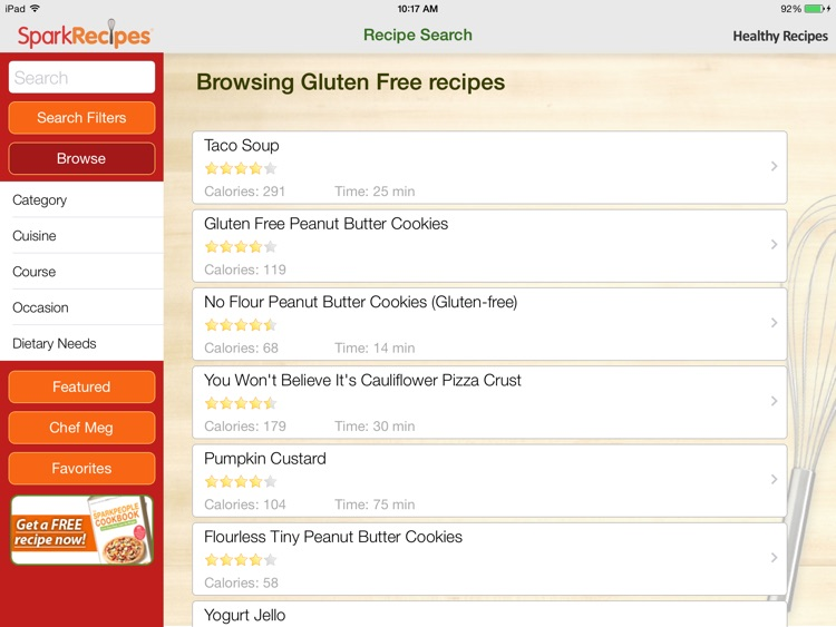 Healthy Recipes by SparkRecipes for iPad screenshot-4