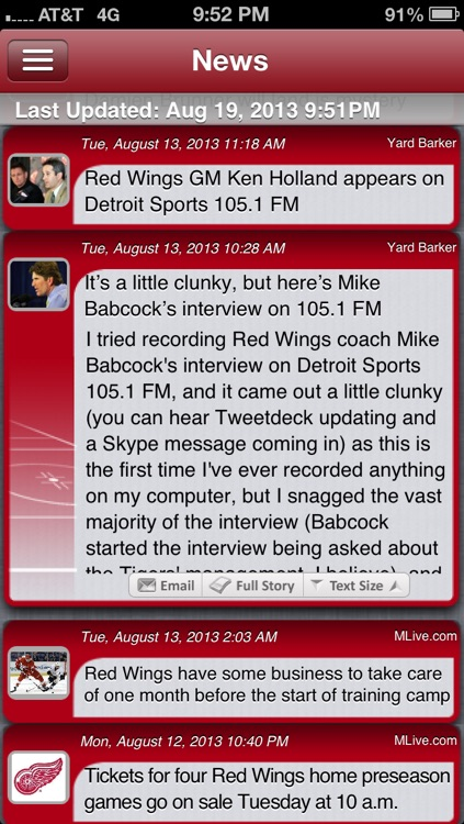 Detroit Hockey Live screenshot-4