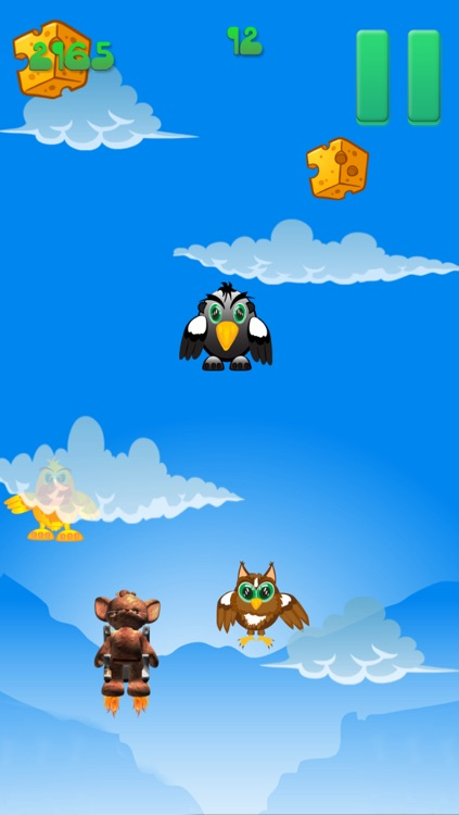 jet pack cute mouse cheese game by jef nielsen