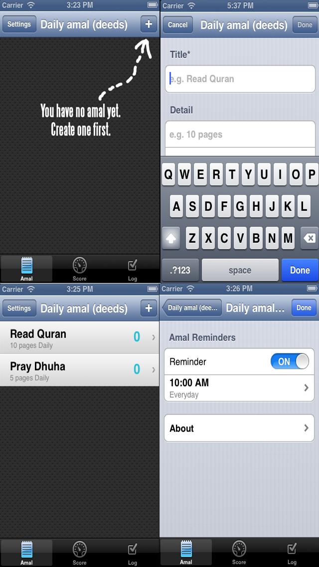 Muslim Prayer Time Reminder.Daily Amal (deeds) Reminder.-1