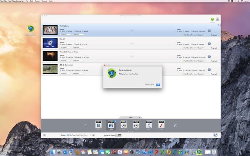 WonTube Free Video Converter Screenshot