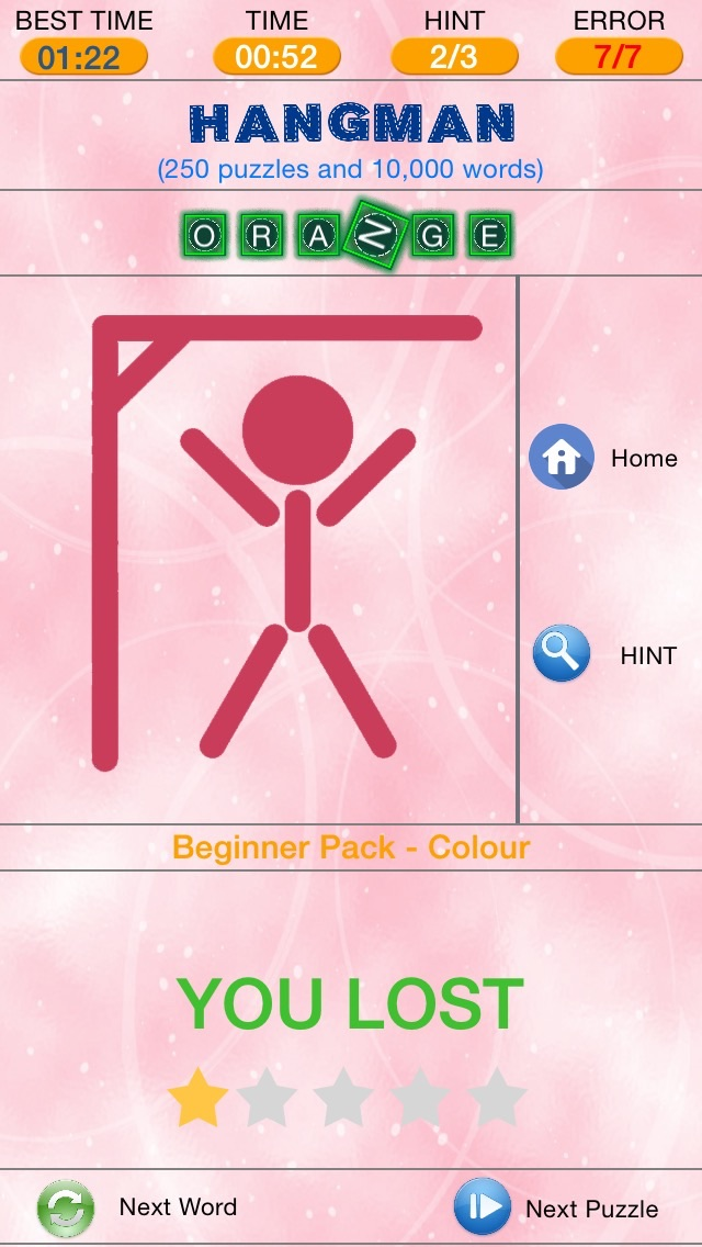 Hangman - Search and Find The Hidden Word Puzzles Screenshot