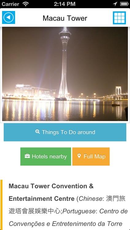 Macau - Macao offline map, guide, hotels & flights screenshot-3