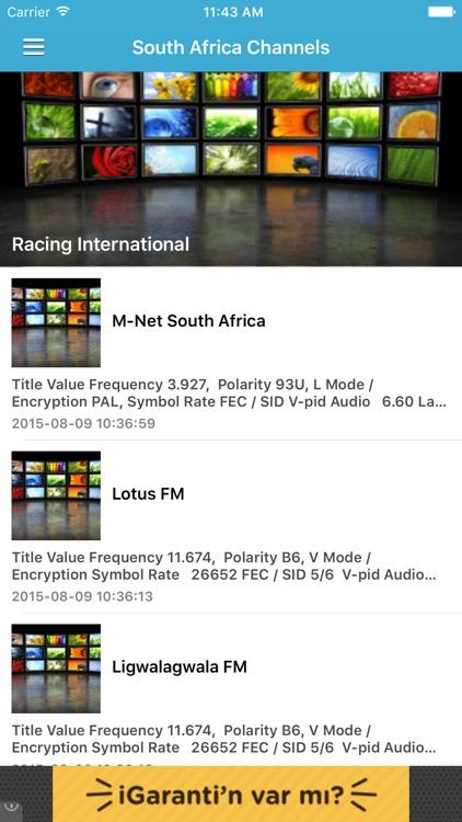 South Africa TV Channels Sat Info by Murat Akdas