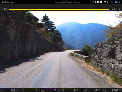 Tacx Cycling app screenshot three