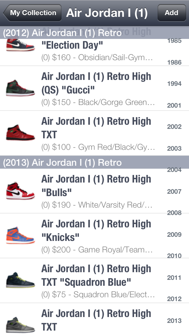 SPG: Sneaker Price Guide & Release Dates by Muhammad Malik (iOS