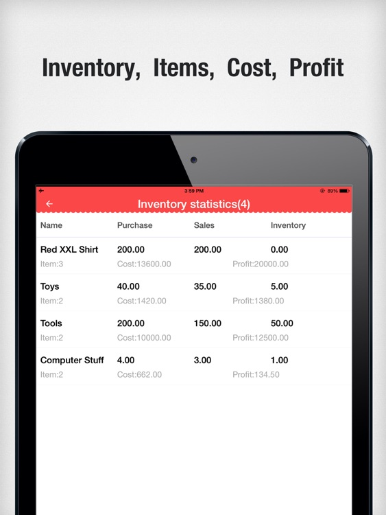 Items Storage HD - Inventory Control,Order Tracker screenshot-3