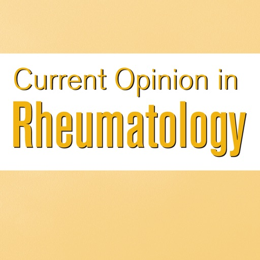 Current Opinion in Rheumatology
