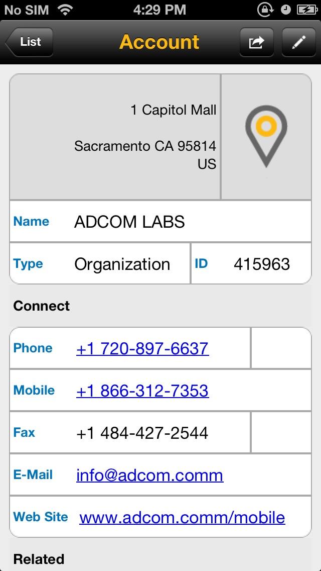 SAP Sales Managerのスクリーンショット1