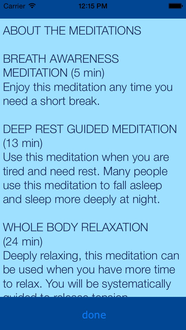 Relax Rest Guided Meditations review screenshots