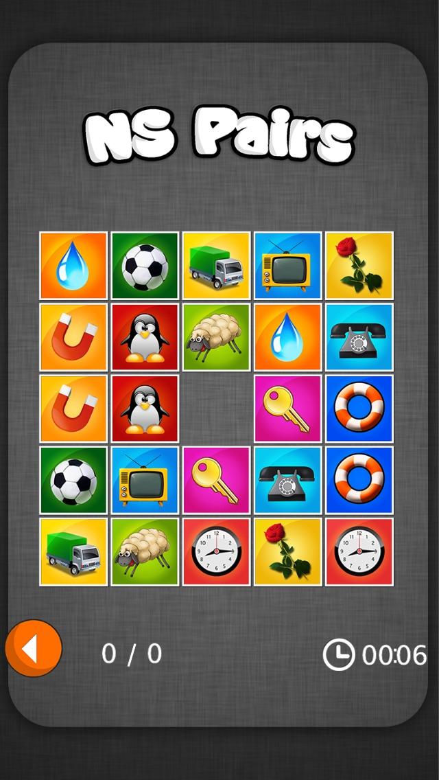 NS Pairs - classic memory game