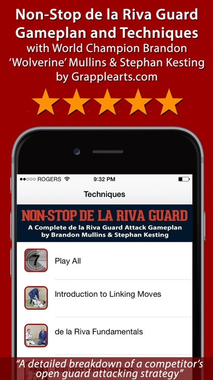Non-Stop de la Riva Guard - Attacks, Sweeps & Submissions for BJJ by Brandon Mullins & Stephan Kesting screenshot-0