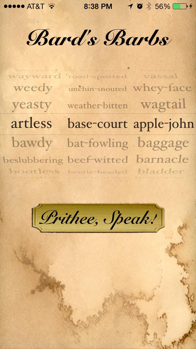 Bard's Barbs screenshot one
