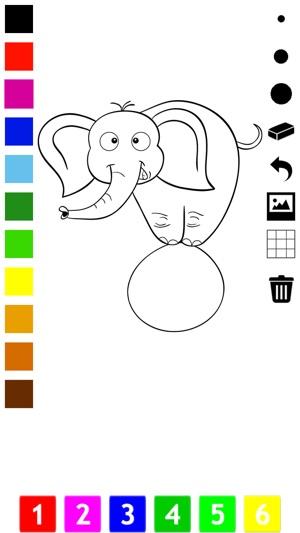 Zirkus Malbuch Für Kleinkinder Clown Löwe Teddy Bär Elefant