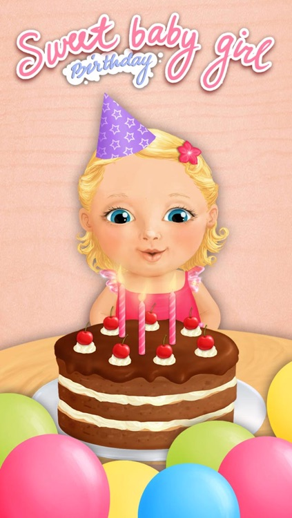 Sweet Baby Girl - Celebrate Baby Birthday, Bake Cake, Get Gifts and Pop Baloons