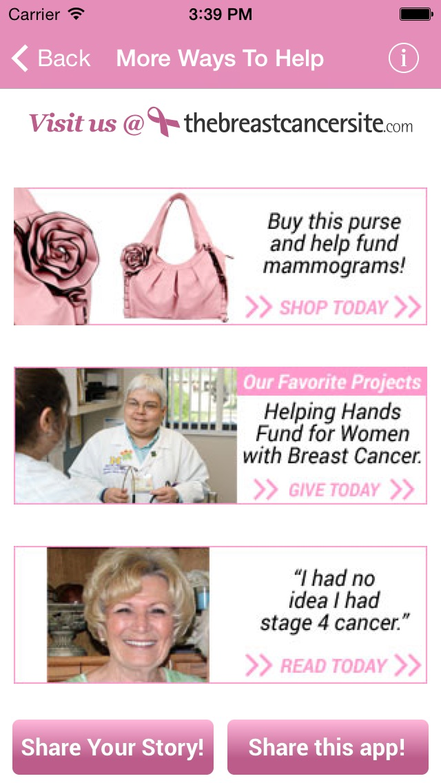 ... by The Breast Cancer Site Screenshot on iOS