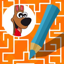 Labyrinth Learning games for children age 3-5: Help the animals to find their way through the maze