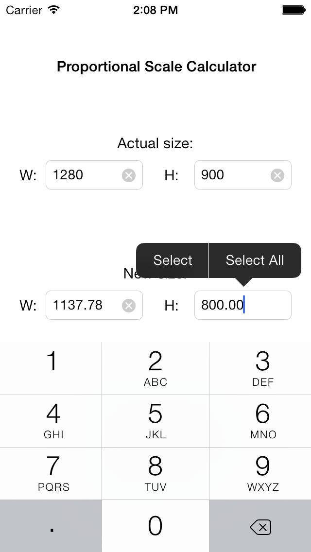 Viewgrader: Proportional Scale Calculator screenshot two