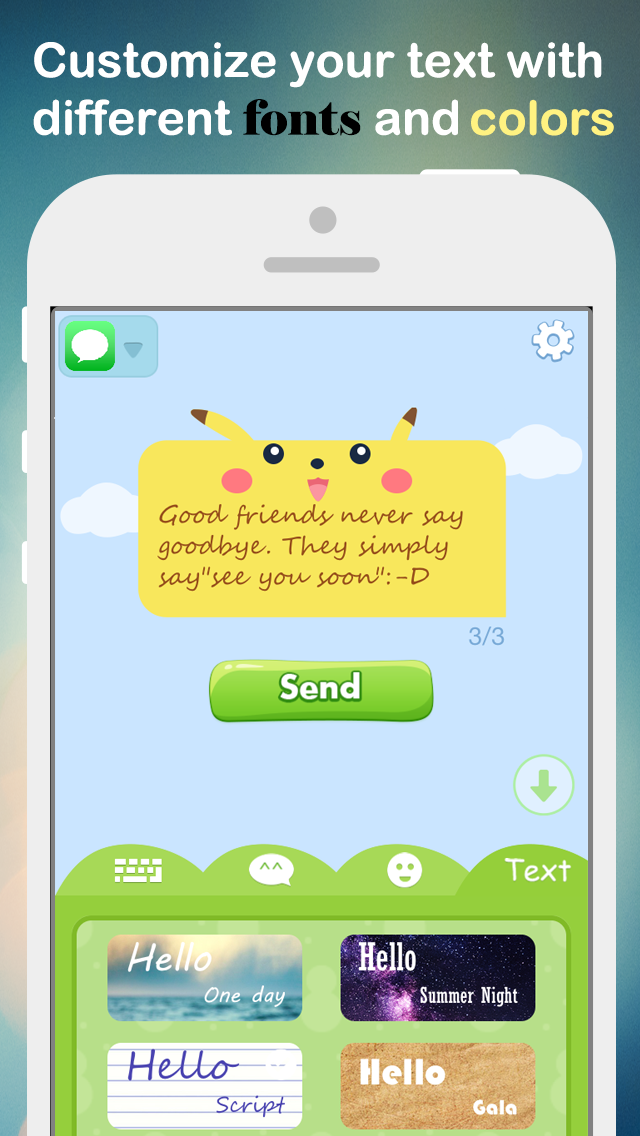Fancy Message-Pimp Text with Emoji Keyboard, New Color Bubble and Textart FREE-4