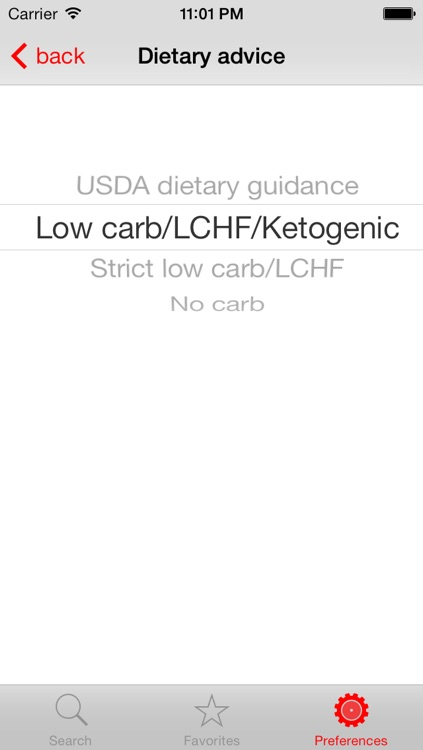 Diet Signal - LCHF/ketogenic/low carb food guide