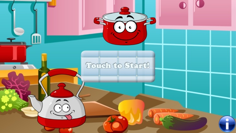 Food for Kids and Toddlers : puzzle games in the Kitchen !