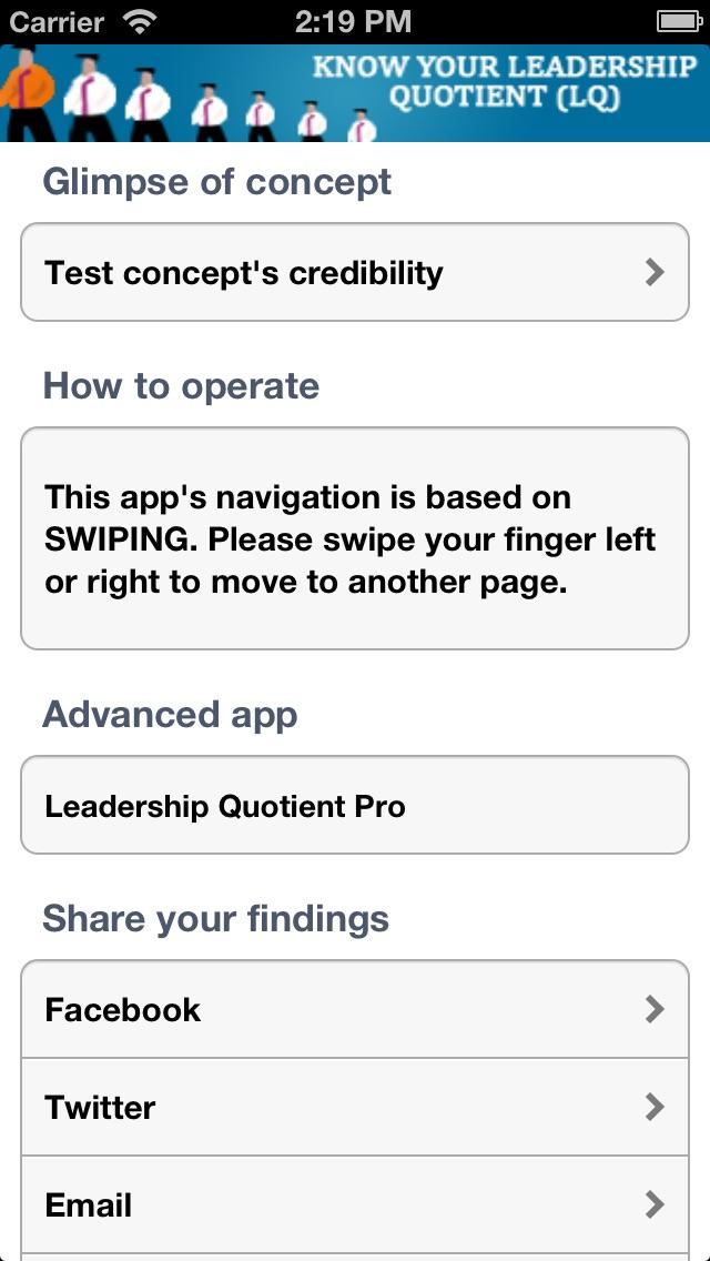 Leadership Quotient(LQ)