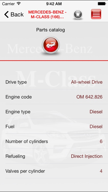 AutoParts  Mercedes-Benz M-class screenshot-2