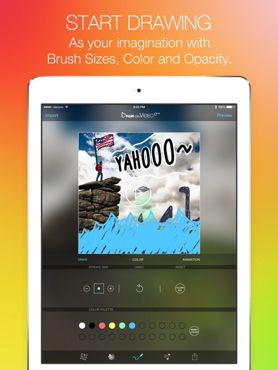 Draw on Video Square PRO - Paint Funny Colors Doodle on Videos for Instagram