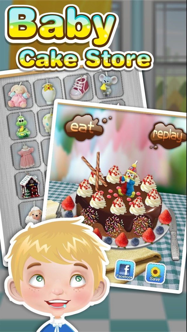 バースデーケーキメーカー - 料理ゲームのおすすめ画像2