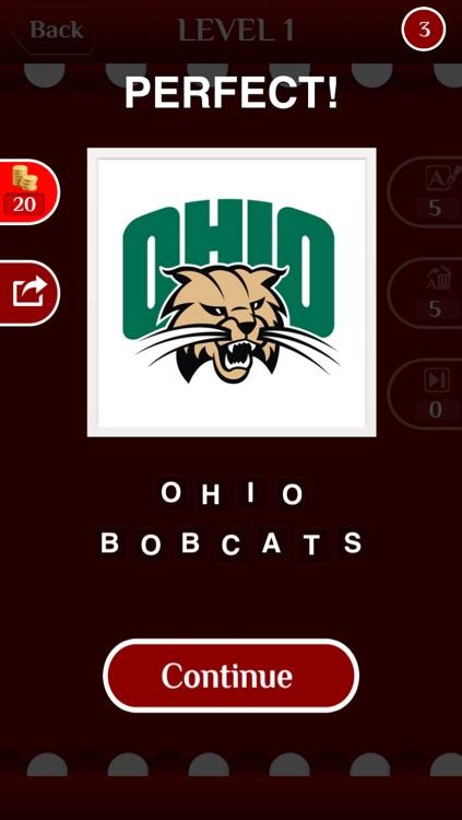 Sports Logo Trivia -  Logo Guessing Quiz of University Club Basketball, Baseball screenshot-3