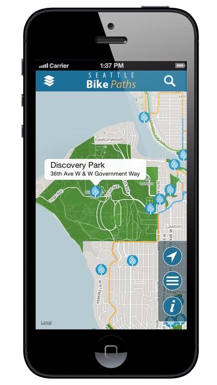Seattle Bike Paths Free screenshot-3