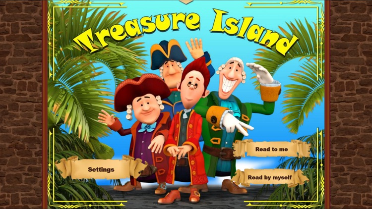 Treasure Island. An Interactive Children`s Book. Full Version.