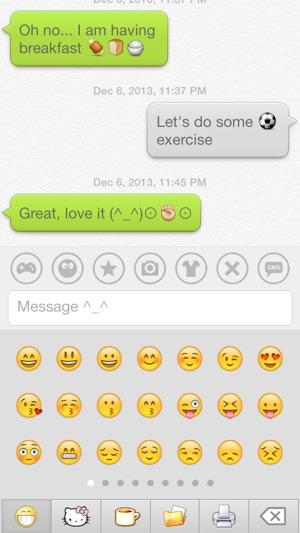 Aqua Emoji Keyboard Make Emoticon Smiley Face In Cute Bubbles On