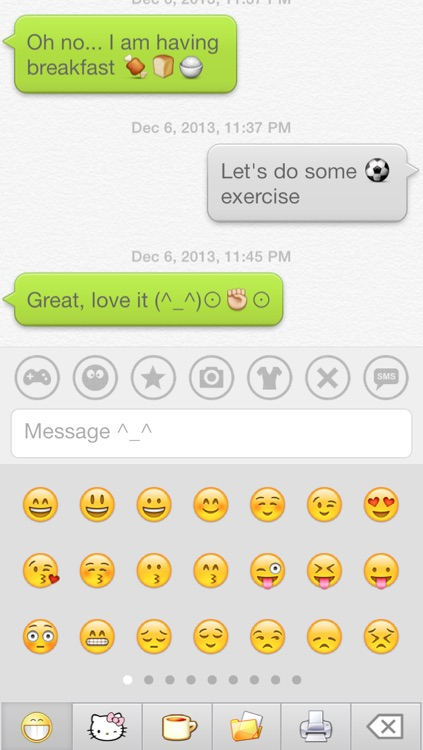 Aqua Emoji Keyboard – make emoticon smiley face in cute bubbles screenshot-1