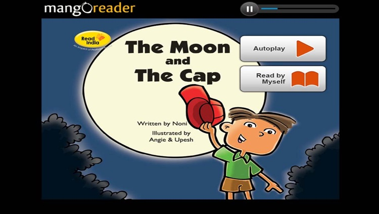 The Moon and the Cap English - Interactive eBook in English for children with puzzles and learning games, Pratham Books