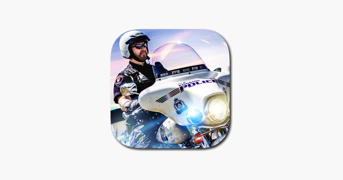 jeu moto police course vitesse r elle de conduite gratuit jeux de course dans l app store. Black Bedroom Furniture Sets. Home Design Ideas