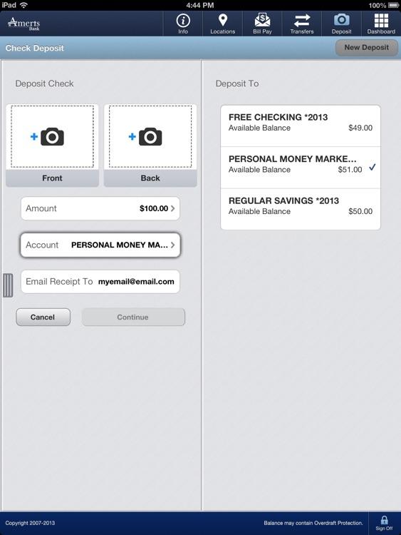 Ameris Bank Business for iPad screenshot-3