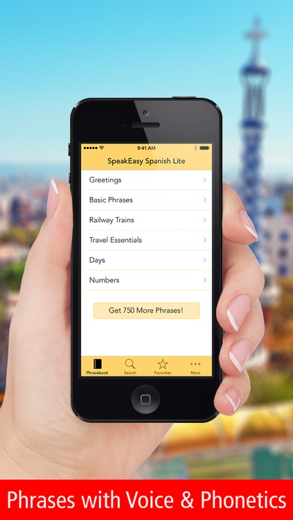 SpeakEasy Spanish Lite ~ Free Travel Phrases with Voice and Phonetics